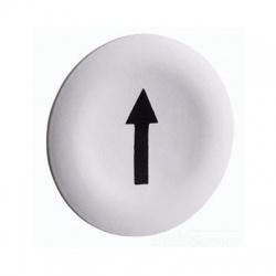 """Hmatník so symbolom """"šípka"""" pre dvojtlačítka, biely"""