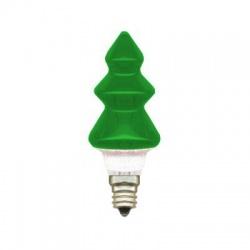 20V/0,1A žiarovka stromček, E10, zelená
