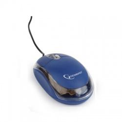 MUS-U-01-BT USB optická myš, modro-priesvitná