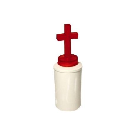 "LED sviečka ""kríž"", 2xR6, červená"