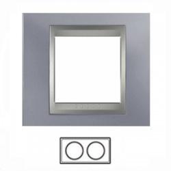 2-rámik, metalická šedá/hliník, MGU66.004.097