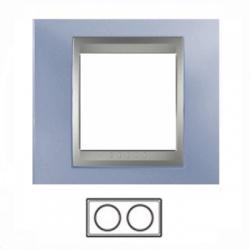 2-rámik, metalická modrá/hliník, MGU66.004.098