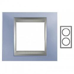 2-rámik, metalická modrá/hliník, MGU66.004V.098