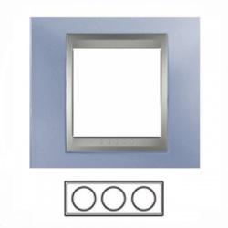 3-rámik, metalická modrá/hliník, MGU66.006.098