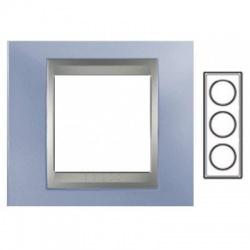 3-rámik, metalická modrá/hliník, MGU66.006V.098