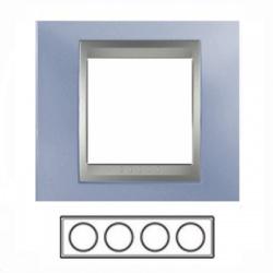 4-rámik, metalická modrá/hliník, MGU66.008.098