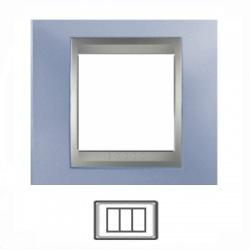 3-modulový, metalická modrá/hliník, MGU66.103.098