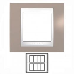 2x4-modulový, sivobéžová/biela, MGU48.424.874