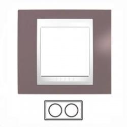 2-rámik, hnedoružová/biela, MGU6.004.876