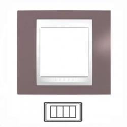 4-modulový, hnedoružová/biela, MGU6.104.876