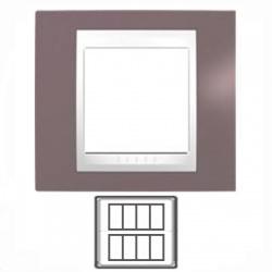 2x4-modulový, hnedoružová/biela, MGU48.424.876