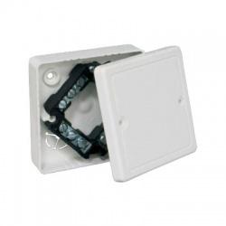 LK 80R/3 HB krabica odbočná s vekom a svorkovnicou, malá biela