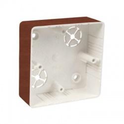 LK 80x28R/1 I2 krabica prístrojová, dub tmavý