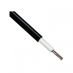 6mm2, solárny kábel, čierny