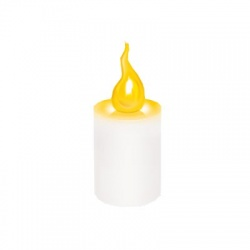 LED sviečka, 2xR6, žltý plameň