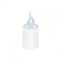 LED sviečka, 2xR6, biely plameň