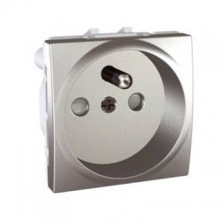 MGU3.059.30 zásuvka, pružinové svorky, hliník