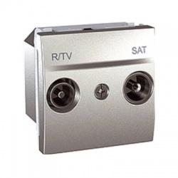 MGU3.456.30 TV/R-SAT zásuvka, priebežná, hliník