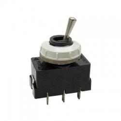 3336-62850 páčkový prepínač, 2-pólový, striedavý, bielo čierny