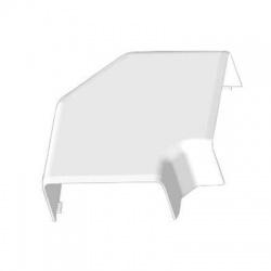 8513 HB 100x40 ohybový kryt, biely