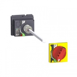 Predĺžená otočná rukoväť pre NSX 100-250, červeno-žltá- LV429340