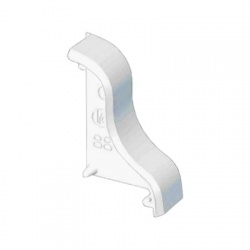 8861 P HB 35 kryt koncový pravý, biely