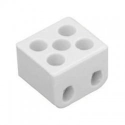 4mm2, 2-pólová, svorka lustrová porcelánová