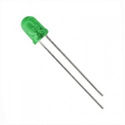LED 5mm 20mcd, zelená