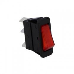 Kolískový prepínač, 2-pólový, červený, 16A/250VAC, 20A/28VDC