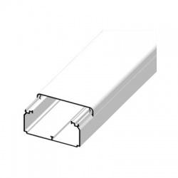 EKD 100x40 HC lišta hranatá, biela