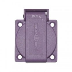 ABL 8932 zásuvka vst., 24-48V, fialová, IP 54