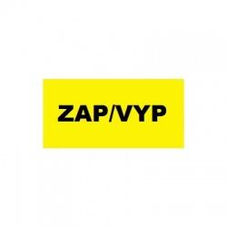 ZAP/ VYP 70x40mm, nálepka