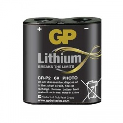 CR P2 lítiová batéria