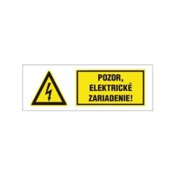 Pozor, elektrické zariadenie! 60x20mm, nálepka