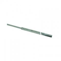 Zachytávacia tyč do podstavcov so závitom a zúženým hrotom 2500mm, AlMgSi