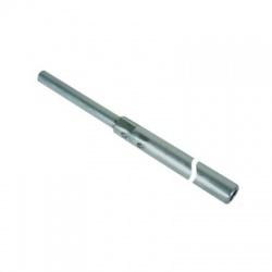 Zachytávacia tyč trubková do podstavcov s klinom a zúženým hrotom 2500mm, AlMgSi