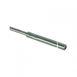 Zachytávacia tyč trubková do podstavcov s klinom a zúženým hrotom 2500mm, nerez