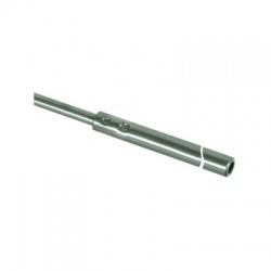 Zachytávacia tyč trubková do podstavcov s klinom a zúženým hrotom 3000mm, nerez