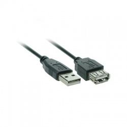 USB 2.0 A konektor - USB 2.0 A zdierka, 5m