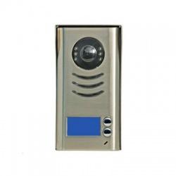 "DPC-D241-2 dverová stanica pre D2, 2x zvonček, CCD 1/3"", pozink. skriňa, 2-drôt, IP44"