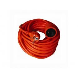 Predlžovací kábel - spojka, 1 zásuvka, oranžová, 30m