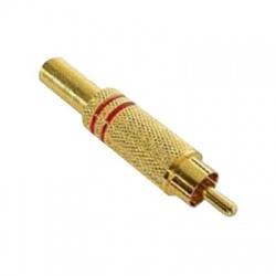 CSGM-RD konektor Cinch na kábel, pozlátený, červený