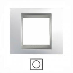 1-rámik, lesklý chróm/hliník, MGU66.002.010