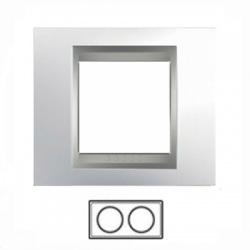 2-rámik, lesklý chróm/hliník, MGU66.004.010