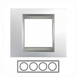 4-rámik, lesklý chróm/hliník, MGU66.008.010