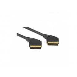 Scart kábel 1,5m, pozlátené konektory