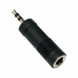 Adaptér Jack 6,3 F stereo/Jack 3,5 M stereo
