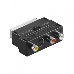 RCA zásuvka x3, SCART vidlica, SVHS zásuvka 4pin