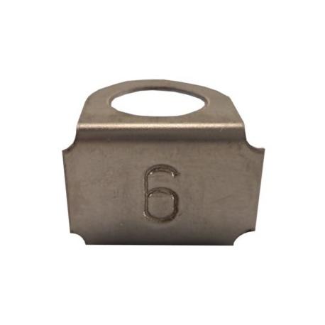 Označovací štítok - s označením č.6,9, nerez