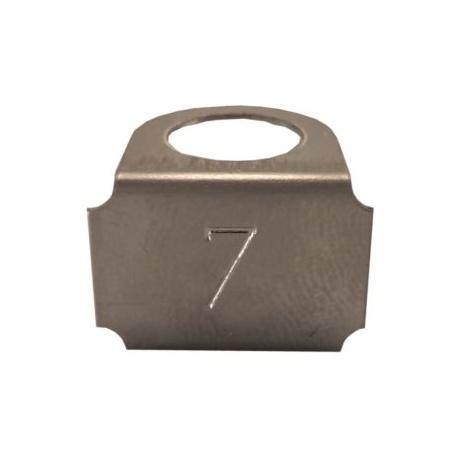 Označovací štítok - s označením č.7, nerez